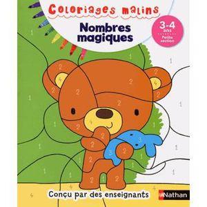 DOCUMENTAIRE ENFANT NATHAN Coloriages Malins - Nombres Magiques Petite