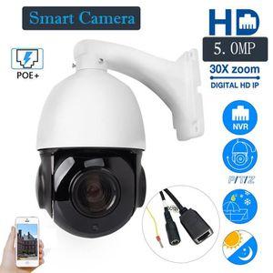CAMÉRA IP HD 1944P 5MP 30X Zoom HD Caméra à dôme extérieure