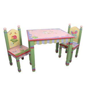 pas de table pieds en bois chambre enfant b/éb/é jouets jeux W-7484A//2 2 chaises