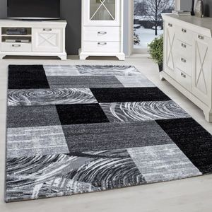 TAPIS Tapis design moderne salon court fleuri Karted Kar