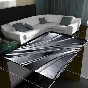TAPIS Tapis design moderne vagues tapis court poil salon