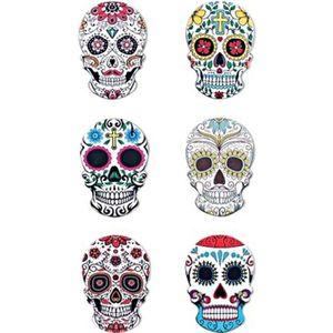 AIMANTS - MAGNETS TETES de MORT Mexicaine Magnets CERAMIQUE neuf lot