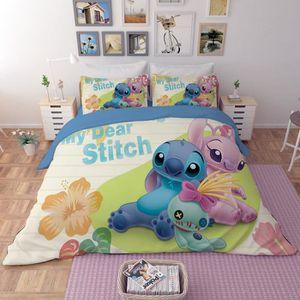 HOUSSE DE COUETTE SEULE Lilo&Stitch parure de lit imprimés - 1 housse de c
