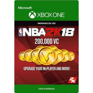 EXTENSION - CODE DLC NBA 2K18: 200 000 VC pour Xbox One