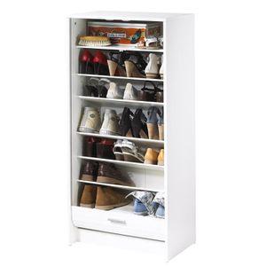MEUBLE À CHAUSSURES SHOOT Meuble à chaussures 58 cm - Blanc, imprimé T