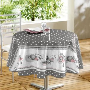 nappe ronde 160cm toile ciree achat vente nappe ronde 160cm toile ciree pas cher cdiscount. Black Bedroom Furniture Sets. Home Design Ideas