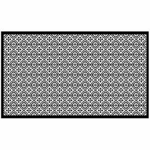 TAPIS Tapis rectangle 100 x 170 cm vinyle vittoria Noir