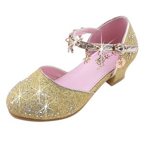 Chaussures Princesse Fille Crystal Star Sequins Sandales Mode Ballerine Chaussures De Danse Chaussures en Cuir Enfant Fille Robemon