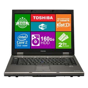 PC Portable ordinateur portable 15 pouces TOSHIBA TECRA A9 core 2 duo,2 go ram 160 go disque dur,windows 7 pas cher