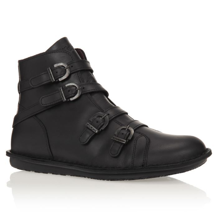 Femme Noir Waxing KICKERS Bottines femme Chaussures Achat pqVzGSUM