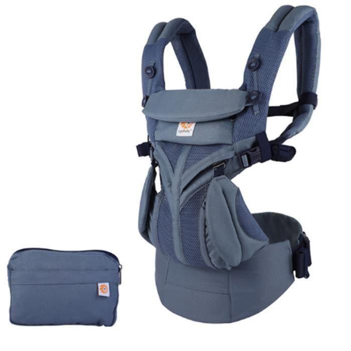 Porte bébé 0-48 mois Perméabilité à l'air d'été bleu1 Multifonction Sac de rangement pratique Confort et sécurité mode unique
