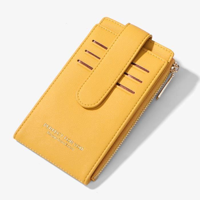 Porte-carte RFID dame sac à main portefeuille anti-vol femme carte de crédit portefeuille dame carte sac à glissière porte-monnaie d