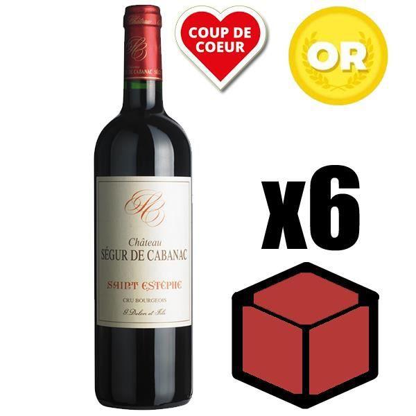 X6 Château Ségur de Cabanac 2013 75 cl AOC Saint-Estèphe Rouge Vin Rouge