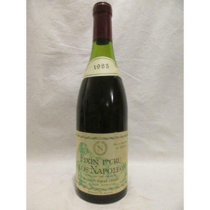 fixin pierre gelin premier cru clos napoléon rouge 1985 - bourgogne