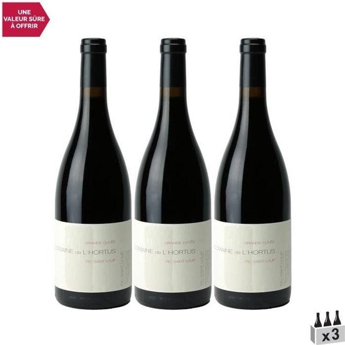 Domaine de l'Hortus Pic Saint-Loup Grande Cuvée Rouge 2019 - Lot de 3x75cl - Vin AOC Rouge du Languedoc - Roussillon
