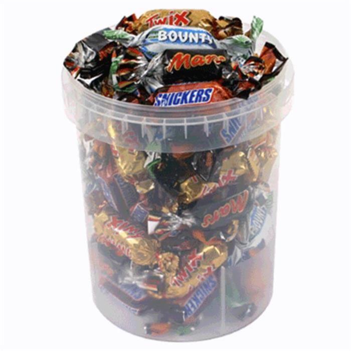 Miniatures Mars Twix Bounty Snickers Mix (lot de 4)