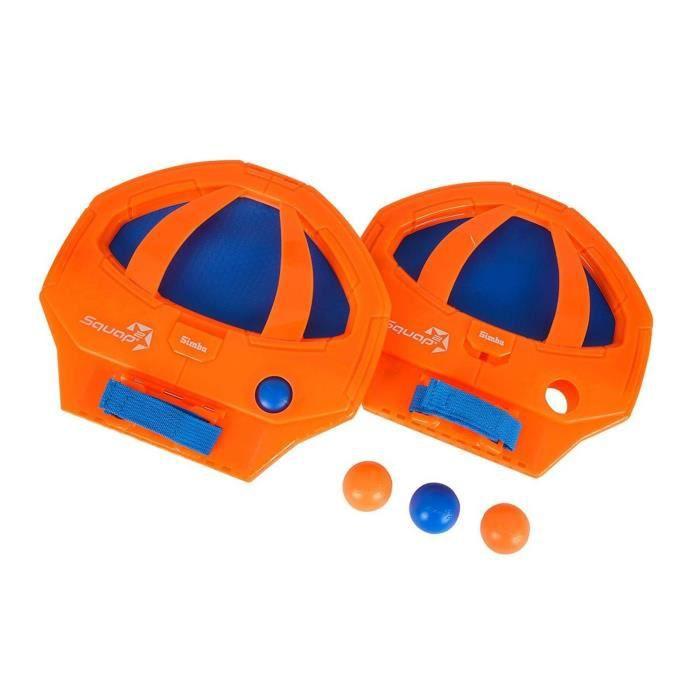 Simba Toys 107203950 Squap Set- jeu de ballon - orange, bleu ou vert, bleu