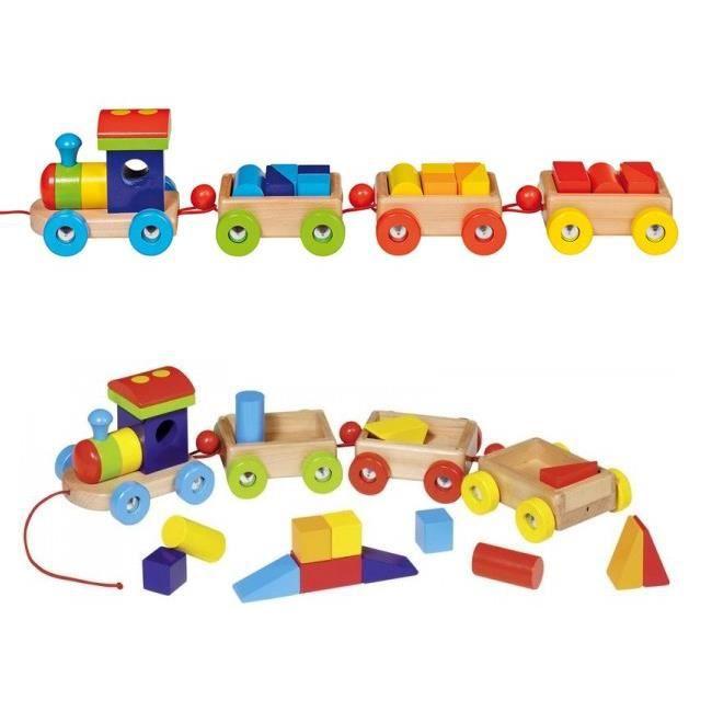 Train Orlando avec cubes de construction