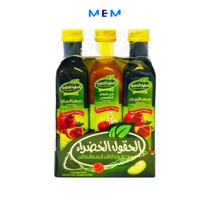 Offre Spéciale Al Hokool Al Khadra : 2 Mélasse De Grenade + Vinaigre De Pomme