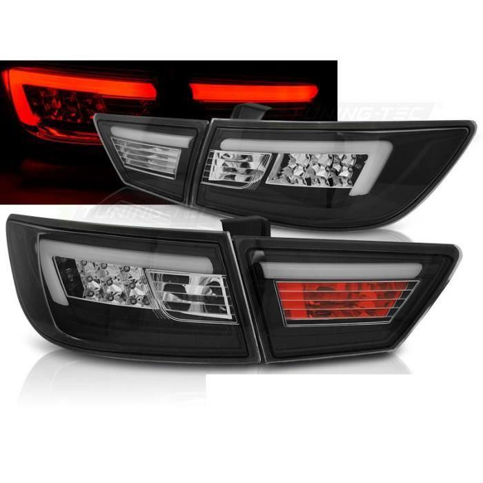 FEUX ARRIERES RENAULT CLIO IV 13-16 HB LED BAR NOIR ( 26449 )