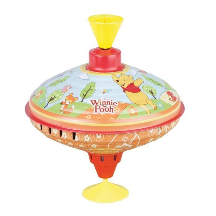 Bolz 52334 Disney Winnie l'Ourson de la Pooh Party, Toupie en Tôle avec Motif Puuh, Toupie avec Pied pour Enfants à partir de 18