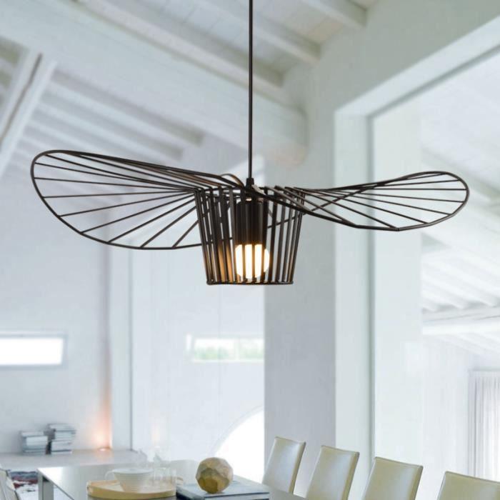 Gobel 60CM Lustre industriel en forme de chapeau Nouvel éclairage simple Pour salon chambre noir 1pcs