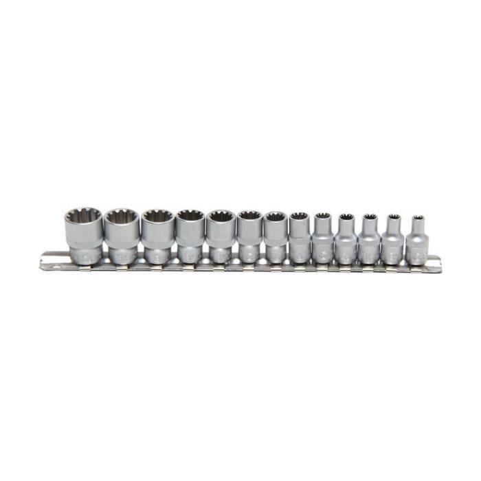 Jeu de douilles Gear Lock 6,3 mm (1/4-) 13 pièces
