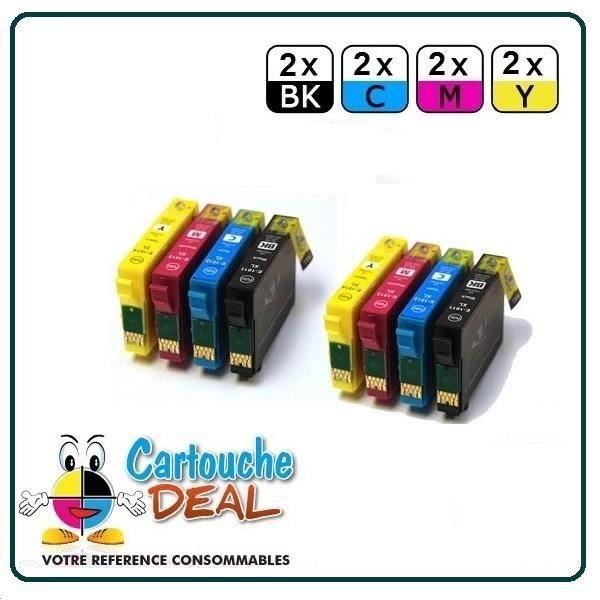 Lot de 8 Cartouches générique compatible Epson T1816
