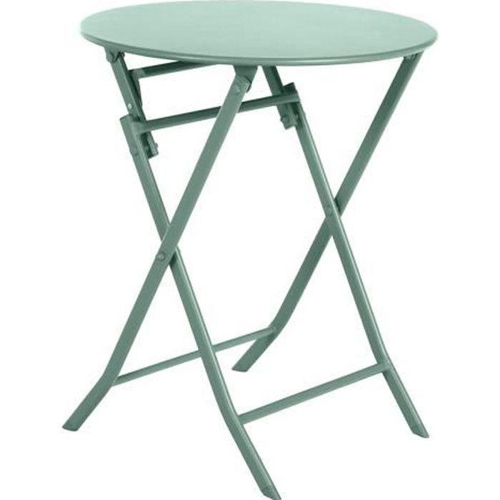 Table de jardin ronde Greensboro Ø 60 cm Olive - Hespéride Vert