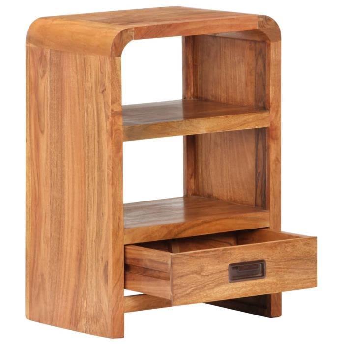 BEL Table de chevet 40x30x60 cm Bois d'acacia massif