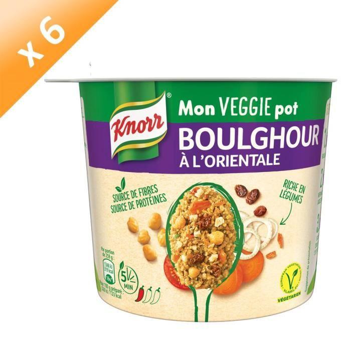 KNORR Mon Veggie Pot Boulghour à l'Orientale - Lot de 6x 80 g