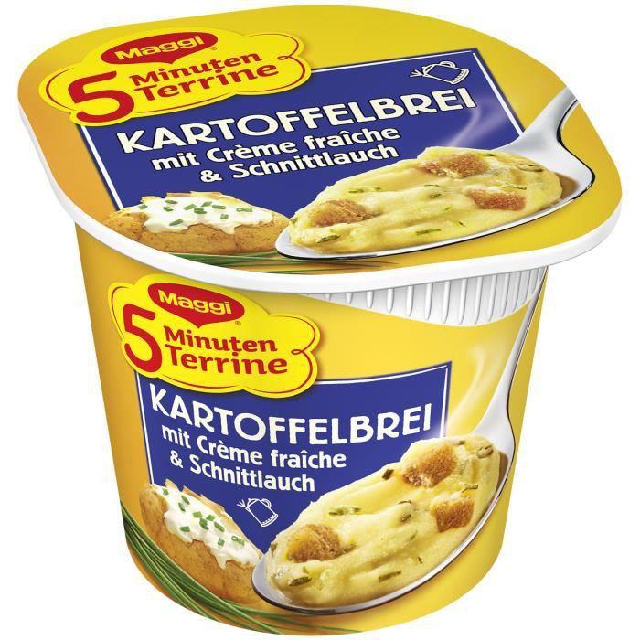 Maggi 5 minutes Terrine purée avec la crème fraîche et ciboulette 8 x 52g