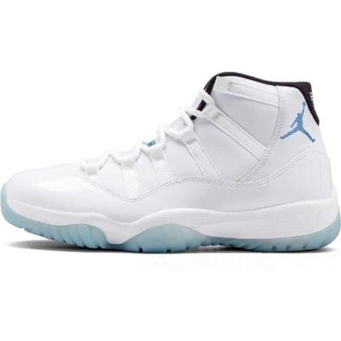 Basket Airs Jordans 11 XI Concorde 23 Retro Chaussures de Pas Cher AJ 11 High pour Homme Femme Blanc