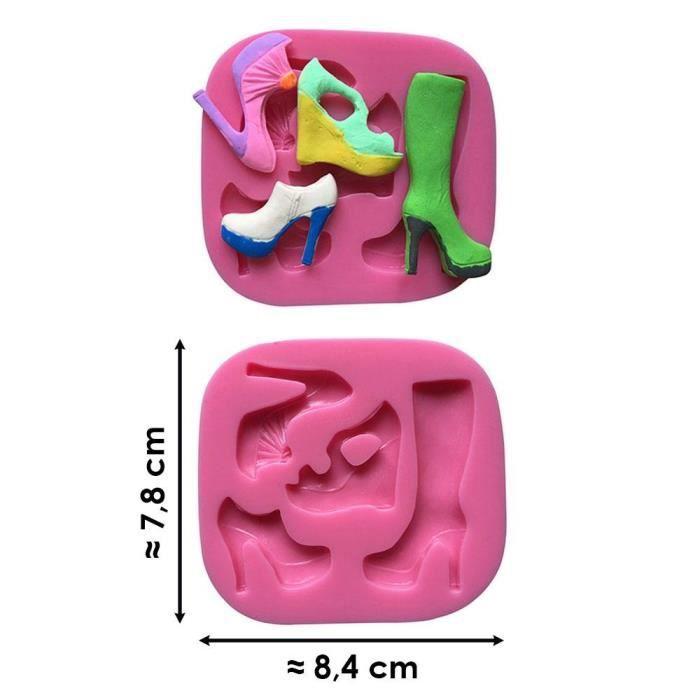Moule silicone 3D Chaussures pâte à sucre, cake design, décoration gateau....