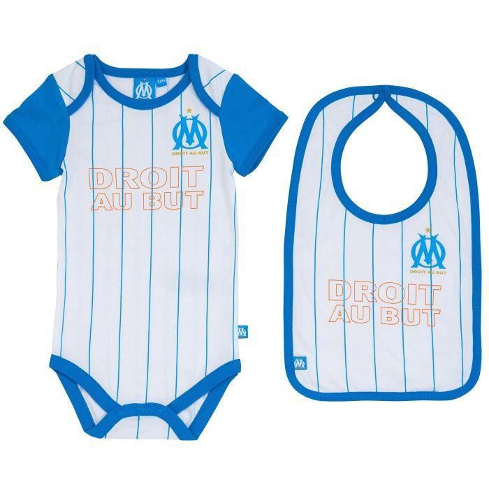 Set Body bavoir OM bébé - Collection officielle OLYMPIQUE DE MARSEILLE - Taille garçon 18 mois