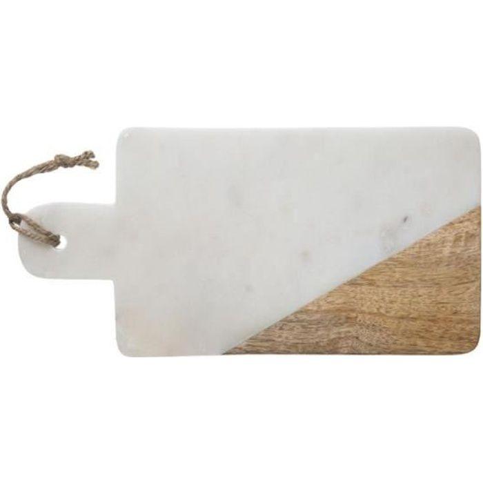 Planche à Découper en Marbre -Geom- 30cm Blanc