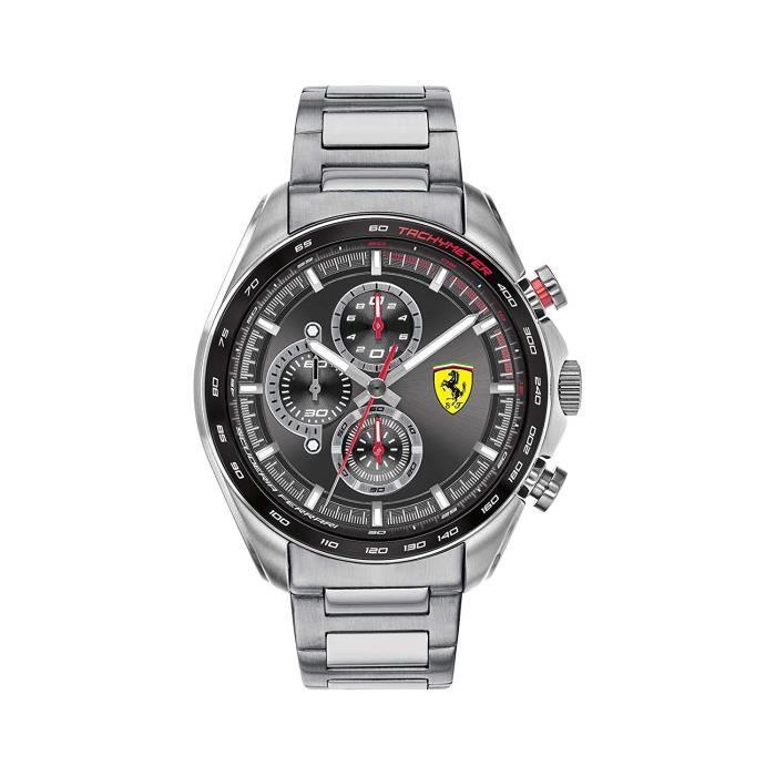 Scuderia Ferrari Homme Analogique Quartz Montre avec Bracelet en Acier Inoxydable 0830652 7661
