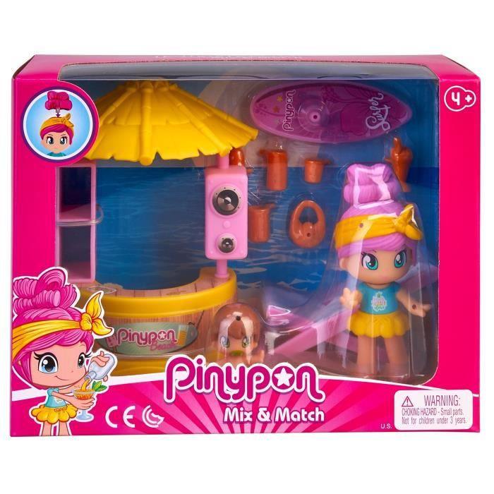 Pinypon - La maman Pinypon et son bébé à la plage - accessoires inclus
