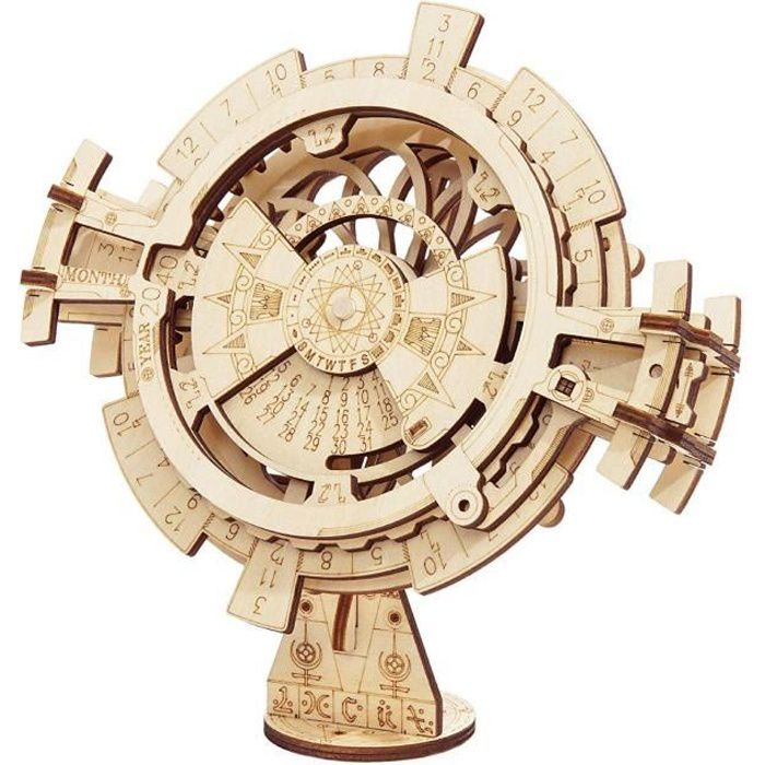 Kit de Construction Jeu de Puzzle en Bois 3D découper sans Colle Laser Maquette Modèles de Construction Cadeau (Perpetual Calendar)