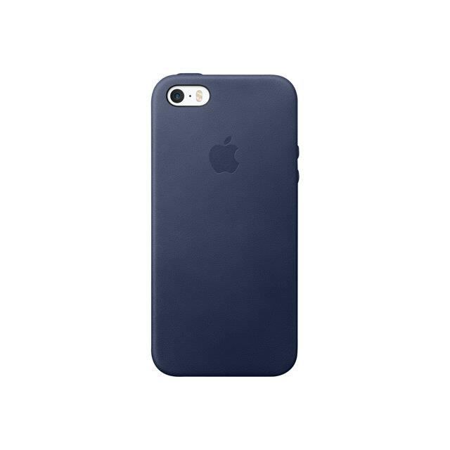 coque apple cuir bleu nuit iphone 5s se achat coque. Black Bedroom Furniture Sets. Home Design Ideas