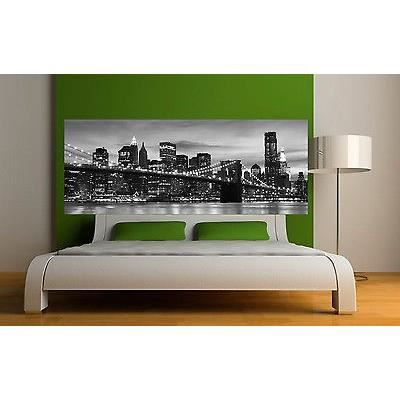 Sticker t te de lit d coration murale new york r f 3650 5 for Deco murale new york