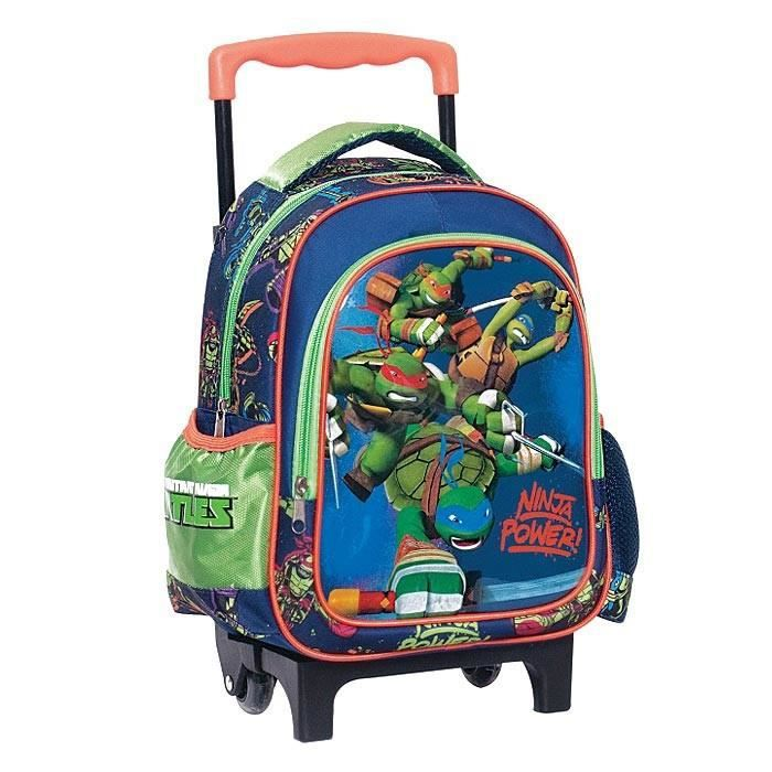 cartable sac roulettes trolley maternelle tortue ninja po - Cartable Tortue Ninja