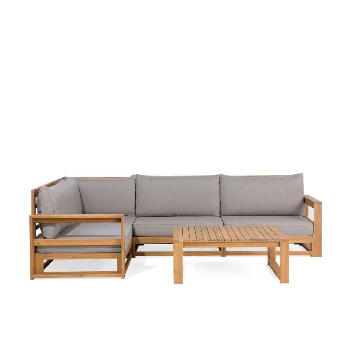Salon de jardin - Meubles en bois d acacia - Ensemble de ...