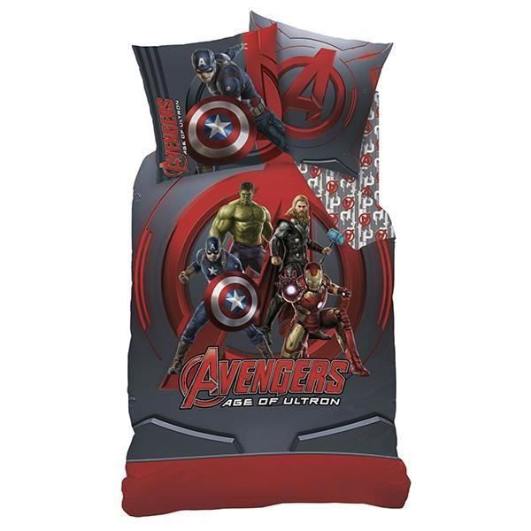 parure de couette avengers league 140x200 achat. Black Bedroom Furniture Sets. Home Design Ideas