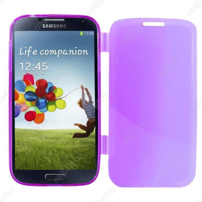 Ebeststar housse portefeuille samsung galaxy s4 violet for Housse samsung galaxy s4