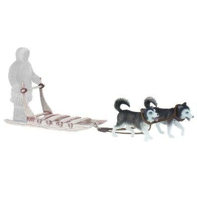 inuit tra neau inuit avec 2 huskys achat vente. Black Bedroom Furniture Sets. Home Design Ideas