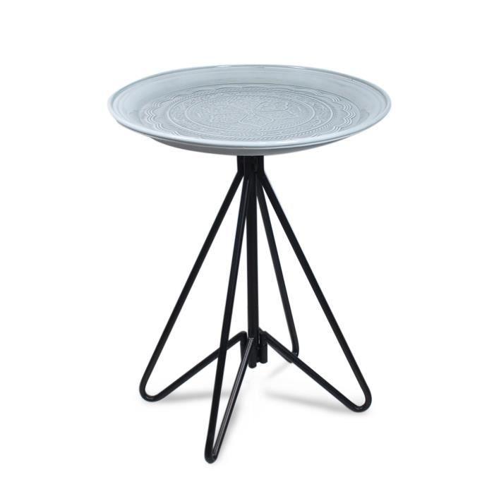TABLE À MANGER SEULE Home Decor - Table Retro Metalique 61 cm - 12223SG
