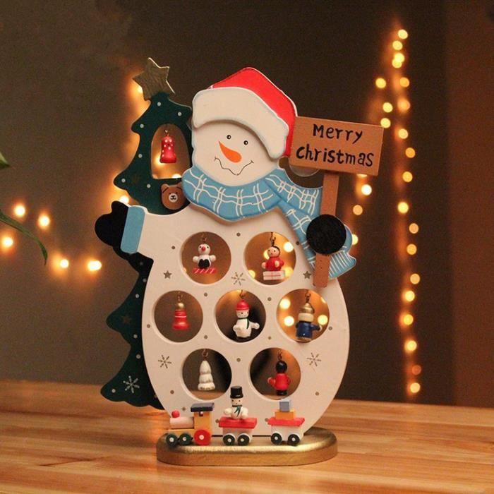Reine 25.5cm bois bonhomme de neige Décoration de Noël