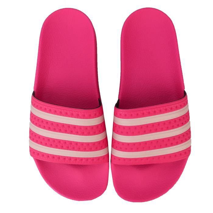 Claquettes Adidas Originals Adilette Pour Femme En Rose.