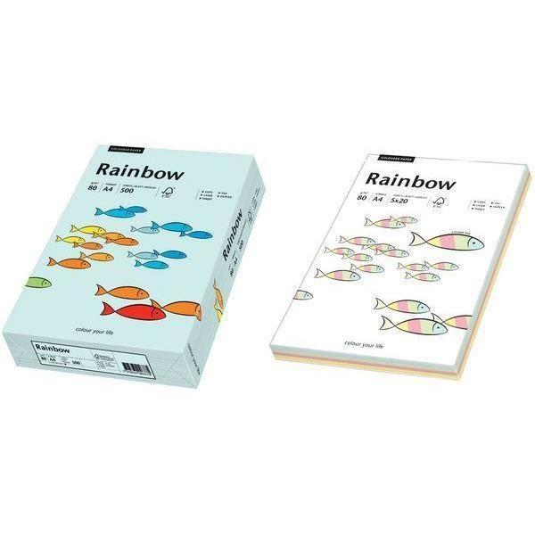"PAPIER IMPRIMANTE papier universel ""Rainbow"", A4, vert moyen, 80g, 5"